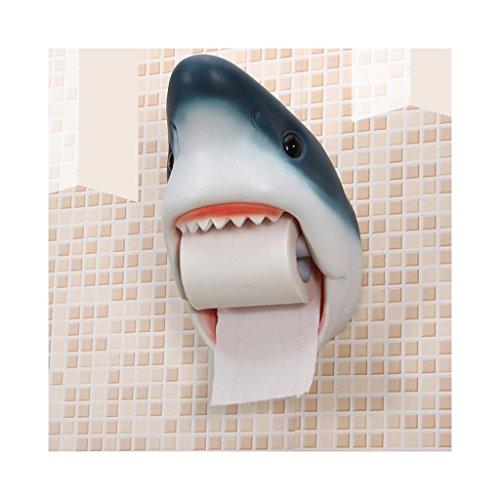 Wubing Toilettenpapierhalter/Wandtoilettenpapierhalter/kreative Rollenhalter Punch wasserdicht Hai Stil 21,5 * 17 * 26CM