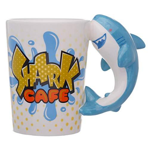Puckator Hai geformte Henkel Tasse Bite me