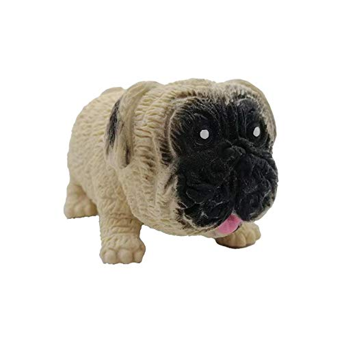 NULINULI Cartoon Tension Dog Doll, Stretchy Dog Reliever Stress Relief Spielzeug, Stretch Und Squeeze Stress Mops Tiere Spielzeug Pug!