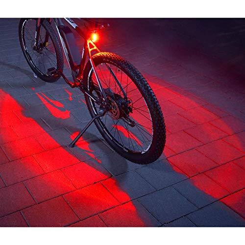 360° Grad Fahrrad-Rücklicht mehr Sichtbarkeit und Schutz, mit USB aufladbaren Akku