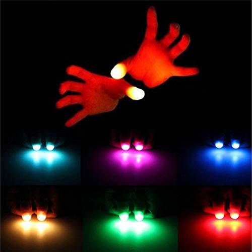 JWGD 4PCS Zaubertrick Requisiten lustige Neuheit Gag LED Licht-blinkende Finger Kinder Erstaunlich Fantastisches Glow Spielzeug Kinder Luminous Geschenke