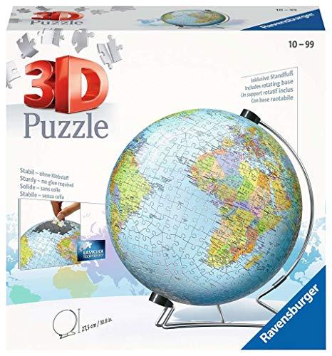 Ravensburger 3D-Puzzle der Welt, V-Ständer für Globus, 540Teile - 4