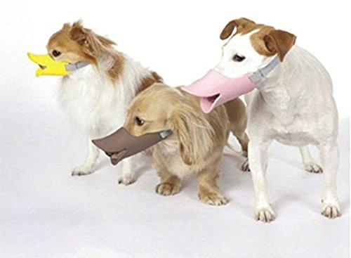 HongYH Entenschnabel-Mundschutz für Hund, Mundschutz, Bissschutz / Maulkorb, bissfest, für kleine Hunde, Gelb - 5