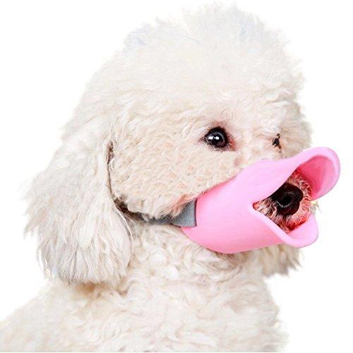 HongYH Entenschnabel-Mundschutz für Hund, Mundschutz, Bissschutz / Maulkorb, bissfest, für kleine Hunde, Gelb - 6
