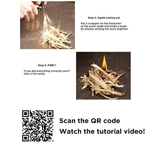 EDCX Survival Nylon Armband Fire-Starting Tool Flaming Lizzard (M Size -19-20 cm) (Black, M) - 2
