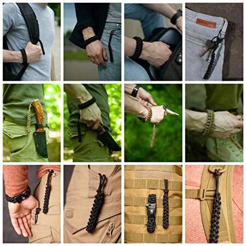 EDCX Survival Nylon Armband Fire-Starting Tool Flaming Lizzard (M Size -19-20 cm) (Black, M) - 8