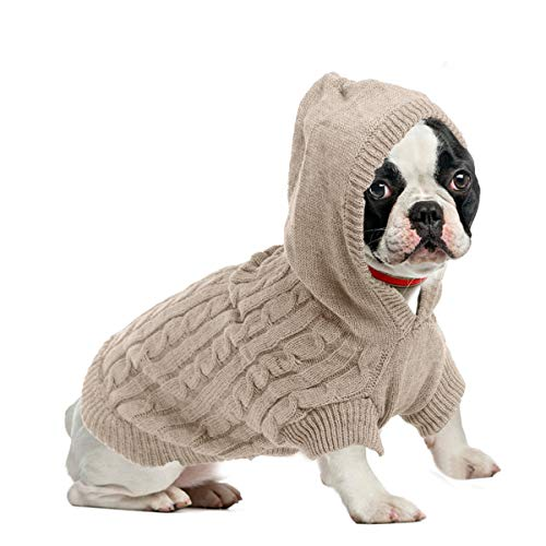Gestrickter Pullover mit Kapuze