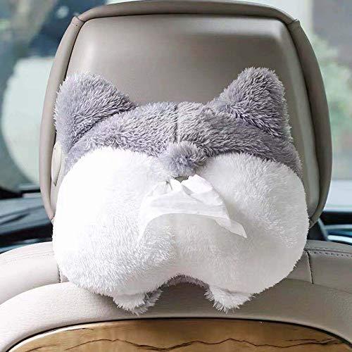 Akin Taschentuchbox-Abdeckung, weich, bezaubernd, Corgi-förmig, kreative Aufbewahrungstasche, zum Aufhängen, Taschentuch-Box, Papierhandtuch-Spender, kreative Corgi-Ass-Taschentuch-Box.