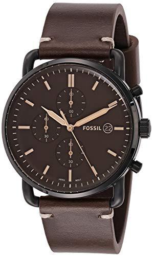 Fossil Herren Chronograph Quarz Uhr mit Leder Armband FS5403