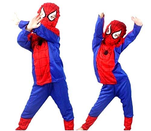 Spider - man kostüm - spiderman - verkleidungen für kinder - halloween - karneval - superheld - rot - kind - größe l - 7/8 jahre - originelle geschenkidee spiderman