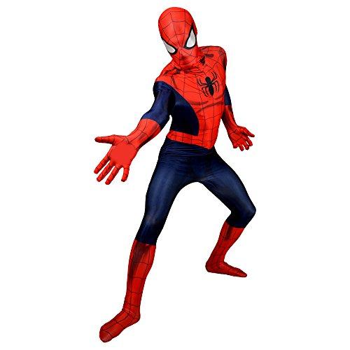 Morphsuits Erwachsene Offizielles Marvel Ganzkörperanzug Amazing Spiderman Kostüm - Größe L (163cm-175cm)
