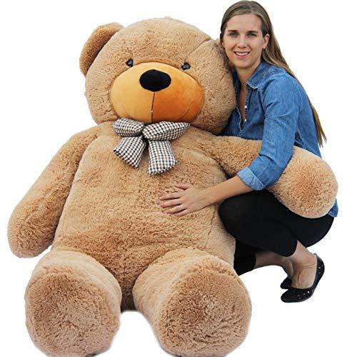 Joyfay großer Teddybär Riesiger Plüschbär Stofftier Sich Weiche XXXL Riesen Teddy (200 cm, N.W 9.4 kg, Hellbraun)