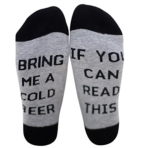 IF YOU CAN READ THIS BRING ME A COLD BEER Socken Lustige Unisex Damen Mann Socken Neuheit Baumwolle Crew Socken MEHRWEG