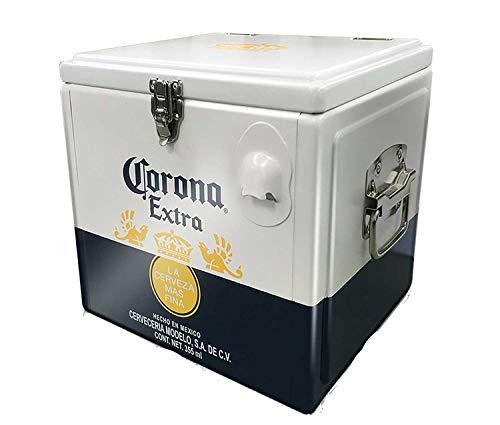 Inbev Offizielle Corona 12 Bier-Kühlbox aus Aluminium, mit Tragegriffen und Flaschenöffner