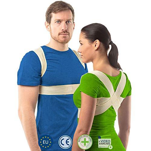 Haltungskorrektur Rücken Damen und Herren von aHeal   Geradehalter für eine gute Körperhaltung   Orthopädischer Geradehalter bei Skoliose und Kyphose   Linderung von Rückenschmerzen   Größe 0 Haut