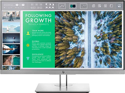 HP EliteDisplay E243 (23,8 Zoll / Full HD) Business Monitor (HDMI, DisplayPort, VGA, USB 3.0, Pivotfunktion, Reaktionszeit 5ms, 60Hz) schwarz
