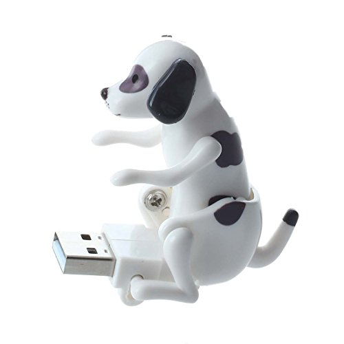 USB Humping Hund - SODIAL(R) USB Humping Hund Schwarz+Weiss