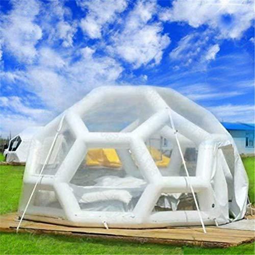 LFDHSF Familien-kampierendes Hinterhof-Zelt, transparentes Fußball-Zelt-kugelförmiges aufblasbares luxuriöses aufblasbares Blasen-Zelt im Freien