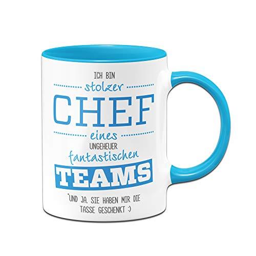 Tassenbrennerei Tasse Stolzer Chef eines fantastischen Teams - Bürotasse Geschenke für den Chef - Kaffetasse