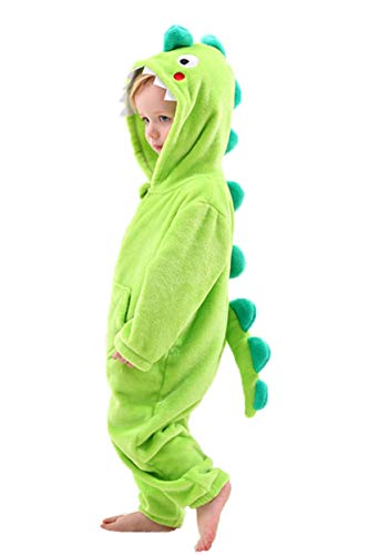 LOLANTA Kinder Dinosaurier Hai Elefant Kostüm, Fleece-Strampler mit Kapuze Karneval Tier Kostüm
