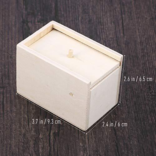 STOBOK Spinne Überraschung Streich Holz Angst Box Witz Spielzeug Narren Day Box für Erwachsene Kinder (White Board, Spinne) - 3