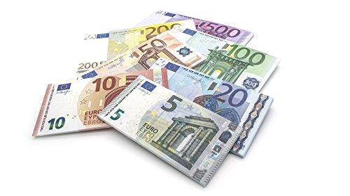 Cashbricks 7 x 25 Spielgeld Euro Scheine Set Scheine verkleinert auf 75%