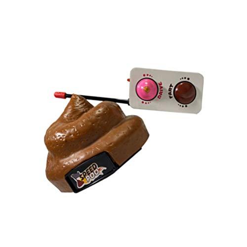 NUOBESTY Poop Auto Fernbedienung Kunststoff Simulation Hocker Spielzeug Scheiße Poop Auto mit Spinning Und Furz Aktion für Halloween April Narren Tag Party Kinder Kinderspielzeug - 9