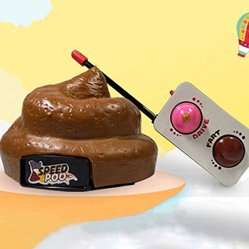 NUOBESTY Poop Auto Fernbedienung Kunststoff Simulation Hocker Spielzeug Scheiße Poop Auto mit Spinning Und Furz Aktion für Halloween April Narren Tag Party Kinder Kinderspielzeug - 8