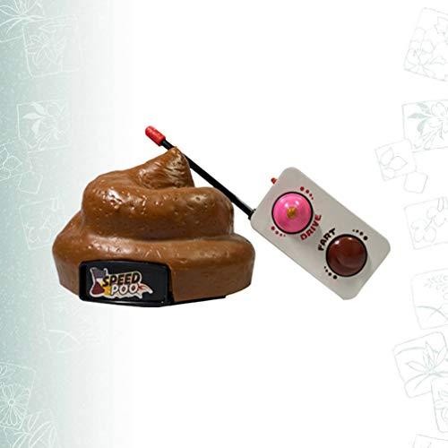 NUOBESTY Poop Auto Fernbedienung Kunststoff Simulation Hocker Spielzeug Scheiße Poop Auto mit Spinning Und Furz Aktion für Halloween April Narren Tag Party Kinder Kinderspielzeug - 6