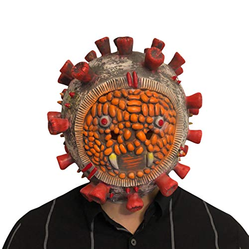 thematys Corona Bakterium Maske in 7 verschiedenen Designs - perfekt für Fasching, Karneval & Halloween - Kostüm für Erwachsene - Latex, Unisex Einheitsgröße (Style 1)