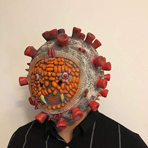 thematys Corona Bakterium Maske in 7 verschiedenen Designs - perfekt für Fasching, Karneval & Halloween - Kostüm für Erwachsene - Latex, Unisex Einheitsgröße (Style 1) - 5