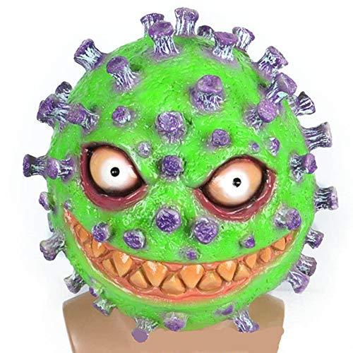 Corona Bakterium Maske in 7 verschiedenen Designs - perfekt für Fasching, Karneval & Halloween - Kostüm für Erwachsene - Latex, Unisex Einheitsgröße (Style 7)