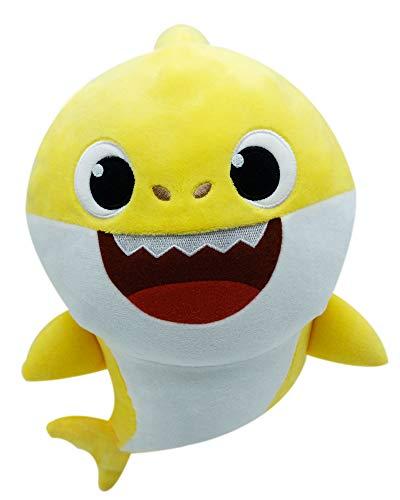 Boti 36470 Shark Plüschfigur Baby Hai mit Soundfunktion, ca. 30 x 16 x 22 cm groß aus weichem Polyester, batteriebetrieben