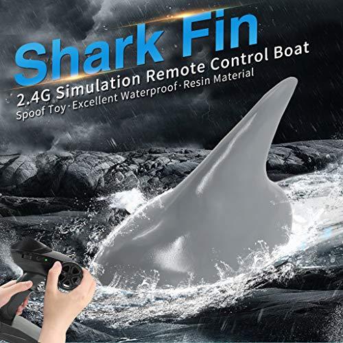 Huhu833 Simulations Haifischflosse RC Boot Ferngesteuertes Boote 2.4G 15km/h Spoof Spielzeug Partyspielzeug Partygeschenke Elektrische Fernbedienung Geschenk (Haifischflosse) - 6