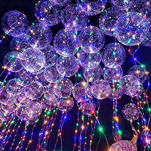 LED Bobo Balloons Transparente Runde Form Balloons Party Blinklicht Ballons Perfekt für Valentinstag Party Hochzeit Urlaub Dekoration (20PCS)