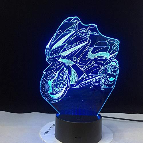 3D Illusionslampe LED Nachtlicht Motorrad Modell leuchtend bunt Touch Flash Ing im Dunkeln leuchten Motorspielzeug
