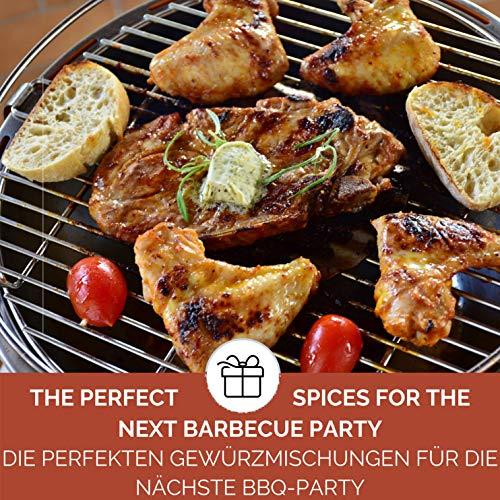 BBQ Geschenk Set Grillgeschenk   Grill Geschenkset mit BBQ Rubs & Steak Pfeffer Geschenkidee für Männer Freund   Gewürzset BBQ Geschenk Box Geburtstag - 5
