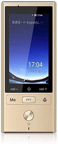 Intelligente Sprachübersetzung, 3,0 Zoll, Touch Screen, Unterstützung 75 Sprachen, Offline-Funktion, Echtzeit-Language Translation Übersetzer (Farbe: Gold) kyman (Color : Gold)