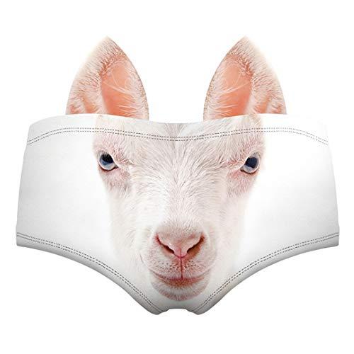 CLEO-DF 3D-Druck-Muster Funny Female Panties Tier Unterwäsche Ohr Schwein Einhorn Tiger Wolf Sexy Lady Cat Höschen N08 One Size
