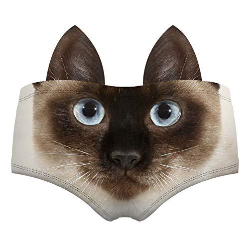 Haoxiaren 3D Muster Lustige Frauen Unterwäsche Briefs Tier Ohren Panda Katze Weiße Ratte Tiger Wolf Lady Höschen