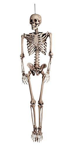 Boland 74515 - Dekoration Skelett, Größe 160 cm, Hängedekoration, Knochenmann, Halloween, Grusel Party, Motto Party, Karneval