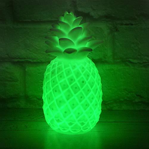 The Glowhouse Farbwechselnde Ananas-Stimmungsleuchte Tischlampe Beleuchtung Schlafzimmer Dekor