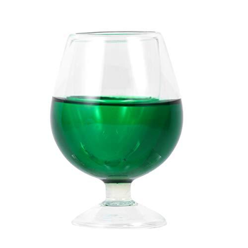 Toyvian Weinglas Streich Requisiten April Narren Tag Streich Lustige Knifflige Knifflige Accessoires für Bar Party (Grün)