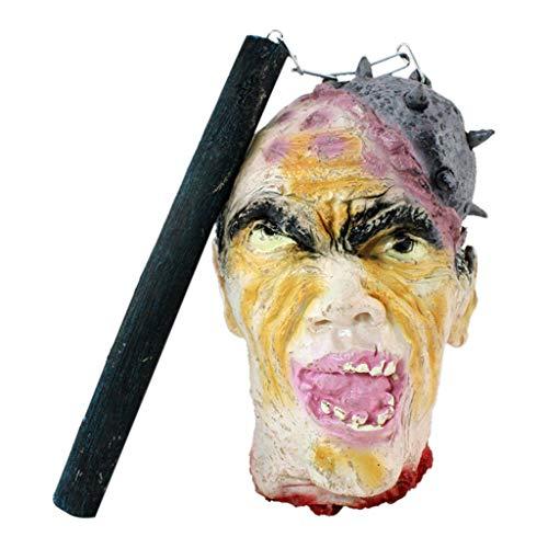 Yurgrt Halloween Horror Dekoration,Meteor Hanging Ghost,Realistische Geisterkopfdekoration Geeignet für Halloween,Spukhaus,Horrorparty