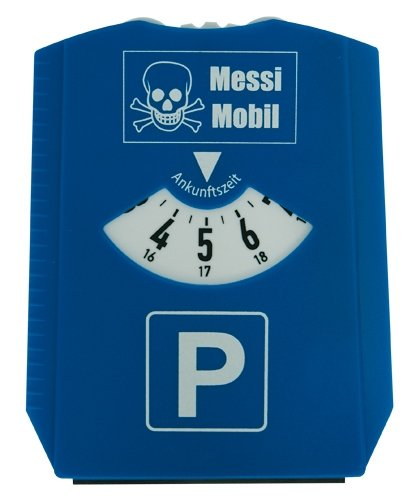 Trend Import Parkscheiben-Scherzartikel Messi-Mobil blau-Weiss
