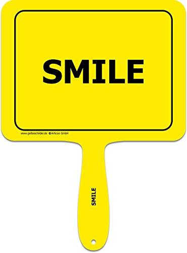 ARTICOO Smile Spruch-Schild fürs Büro, Auto, Hochzeit, Fotoboxen, Fotoshootings oder Festivals   Lustige Provokantes Spruchschild Funschild Fotobooth Fotobox