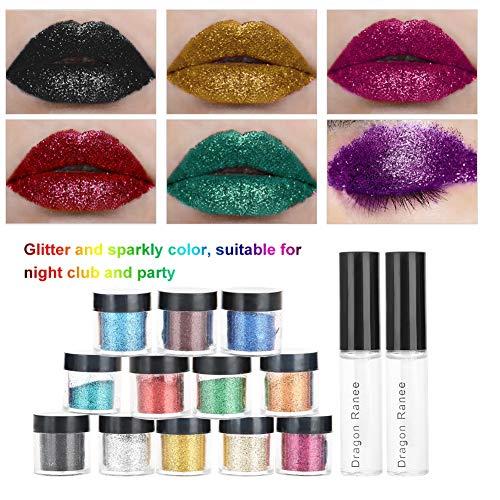 Lippenpuder, Glitzer-Lidschattenpulver, ungiftiges Glitzerpulver, praktischer Nachtclub für Mädchenfrauenparty