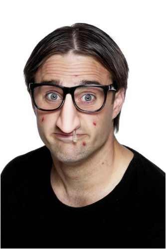 Brille mit Rotznase, Nase, Scherzartikel, Kostüm