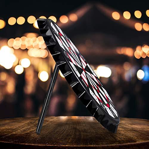 Relaxdays Kronkorken Dartscheibe, magnetische Zielscheibe, Dart Trinkspiel mit 6 Kronkorken, Partyspiel Ø 25 cm, schwarz - 4