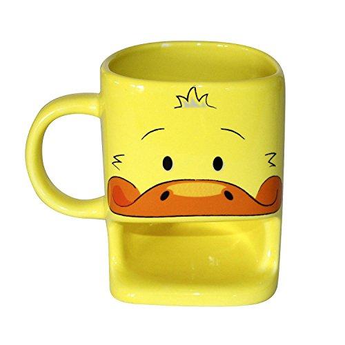 Enten Tasse mit Keksablage/Duck Cookie Cup, aus Keramik